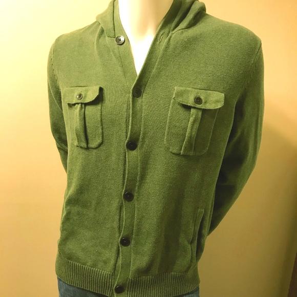Express Sweaters Button Down Mens Cardigan Sweater W Hood Poshmark